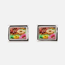 Donuts Party Time Rectangular Cufflinks