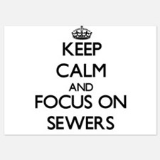 Keep Calm and focus on Sewers Invitations