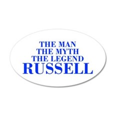 The Man Myth Legend RUSSELL-bod blue Wall Decal