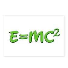 E=MC squared 4 Postcards (Package of 8)