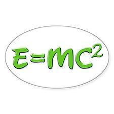E=MC squared 4 Oval Decal