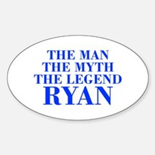 The Man Myth Legend RYAN-bod blue Decal