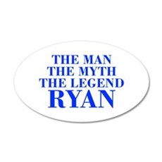 The Man Myth Legend RYAN-bod blue Wall Decal