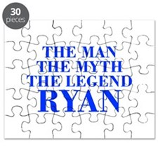 The Man Myth Legend RYAN-bod blue Puzzle