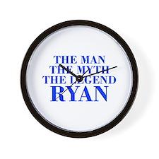 The Man Myth Legend RYAN-bod blue Wall Clock