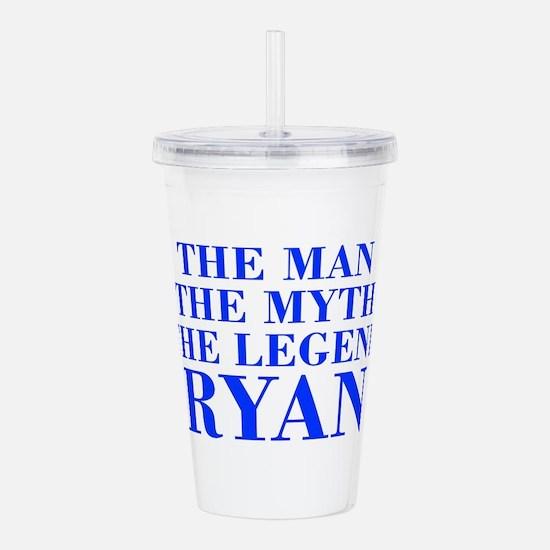 The Man Myth Legend RYAN-bod blue Acrylic Double-w