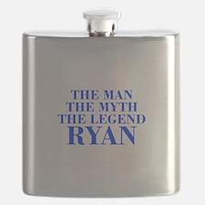The Man Myth Legend RYAN-bod blue Flask