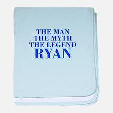 The Man Myth Legend RYAN-bod blue baby blanket