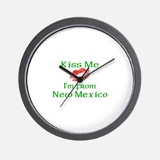 Kiss Me I'm from New Mexico Wall Clock