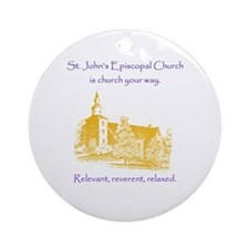 St. Johns Is Church Your Way. Ornament (round)