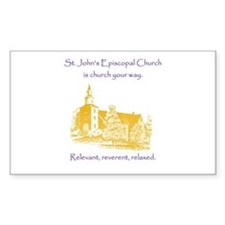 St. Johns Is Church Your Way. Decal
