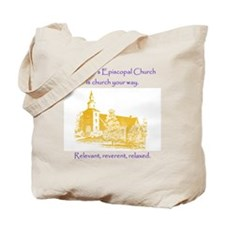 St. Johns is church your way. Tote Bag