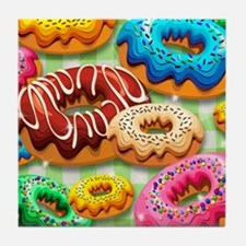 Donuts Party Time Tile Coaster