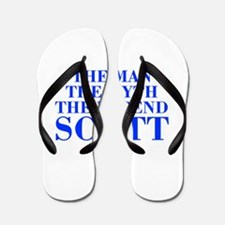 The Man Myth Legend SCOTT-bod blue Flip Flops