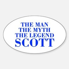 The Man Myth Legend SCOTT-bod blue Decal