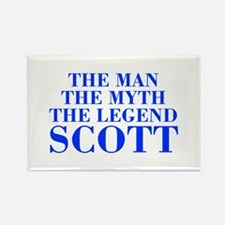 The Man Myth Legend SCOTT-bod blue Magnets