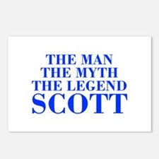 The Man Myth Legend SCOTT-bod blue Postcards (Pack