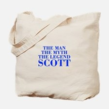 The Man Myth Legend SCOTT-bod blue Tote Bag