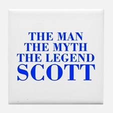 The Man Myth Legend SCOTT-bod blue Tile Coaster