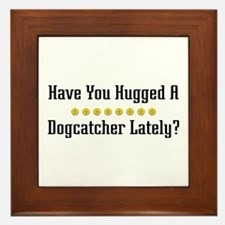 Hugged Dogcatcher Framed Tile