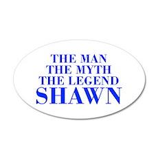 The Man Myth Legend SHAWN-bod blue Wall Decal