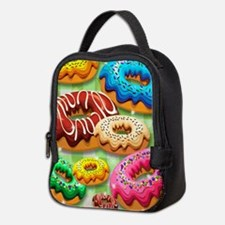 Donuts Party Time Neoprene Lunch Bag
