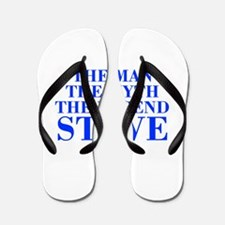 The Man Myth Legend STEVE-bod blue Flip Flops