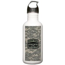 Proud Army Mom Camo Water Bottle