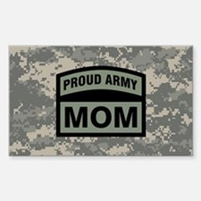 Proud Army Mom Camo Decal