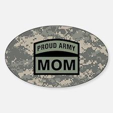 Proud Army Mom Camo Sticker (Oval)