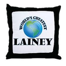 World's Greatest Lainey Throw Pillow
