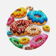 Donuts Party Time Ornament (Round)