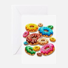 Donuts Party Time Greeting Cards