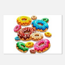 Donuts Party Time Postcards (Package of 8)