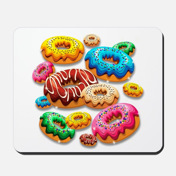 Donuts Party Time Mousepad