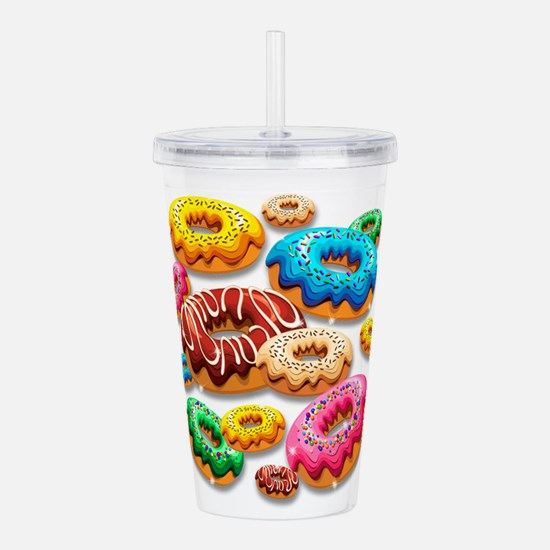 Donuts Party Time Acrylic Double-wall Tumbler