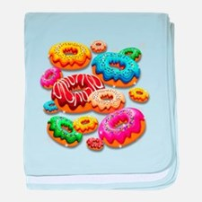 Donuts Party Time baby blanket