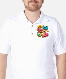 Donuts Party Time Golf Shirt