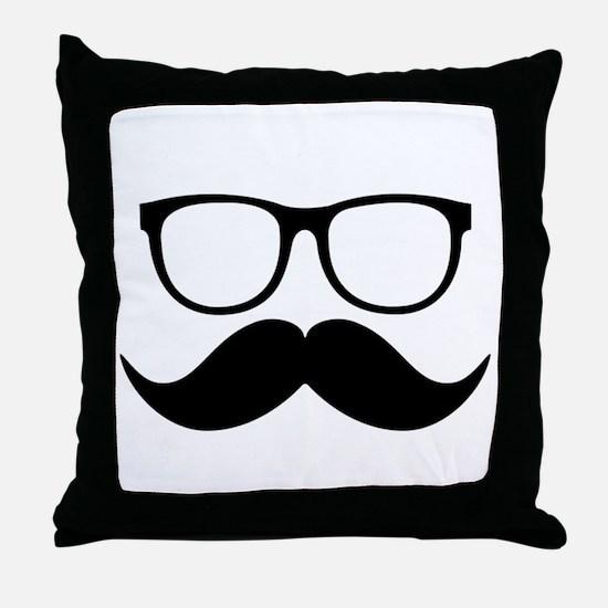Mr. Stache Throw Pillow