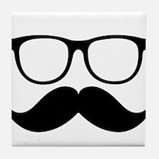 Mr. Stache Tile Coaster
