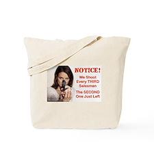 Notice! We Shoot: Tote Bag