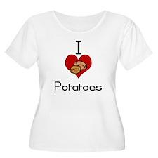I love-heart potatoes Plus Size T-Shirt