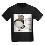 Brown Bar Cap Flight Kids Dark T-Shirt