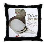 Brown Bar Cap Flight Throw Pillow