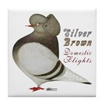 Brown Bar Cap Flight Tile Coaster