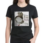 Brown Bar Cap Flight Women's Dark T-Shirt