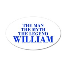 The Man Myth Legend WILLIAM-bod blue Wall Decal