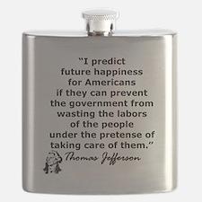 THOMAS JEFFERSON QUOTE Flask