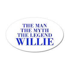 The Man Myth Legend WILLIE-bod blue Wall Decal