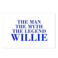 The Man Myth Legend WILLIE-bod blue Postcards (Pac